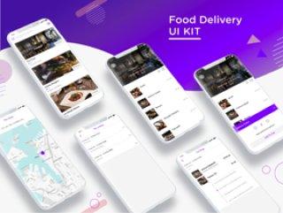高品质的食品交付UI工具包,食品交付UI工具包