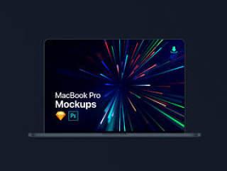 MacBook Pro / Air Mockup Kit,极简主义MacBook Pro / Air Mockup Kit