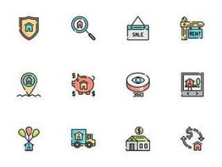 50 枚房地产元素图标