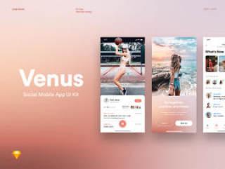 Venus Social Mobile UI Kit,Venus Social Mobile UI Kit
