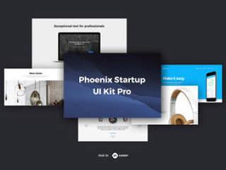 准备使用HTML5组件的大量收藏,Phoenix Startup UI Kit Pro