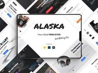 UI Kit由7种流行类别中的180多张优雅卡片组成!,Alaska UI Kit