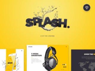 使用这个基于草图的登陆页面UI Kit,Splash UI Kit制作一个SPLASH