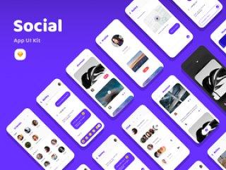 卡UI设计语言,社交应用UI工具包sketch源文件