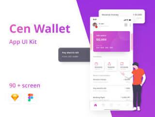 Cen Crypto Wallet App UI套件,Cen Wallet UI套件