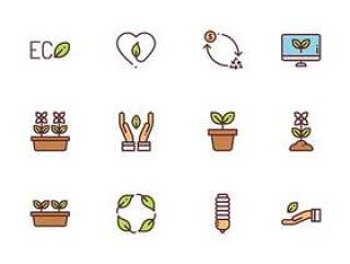 50 枚生态和环境图标