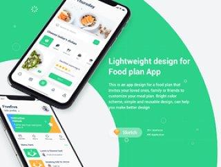 Food Planner app UI设计套件,FoodPlan UI套件