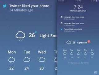iOS Lock Screen Concept