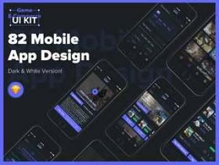 移动设计游戏电子商务UI工具包与Sketch。,游戏电子商务UI工具包兼容