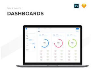 40个Dashboard用于Sketch和Photoshop的UI屏幕,40个Dashboards第3卷