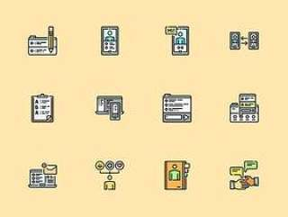 30 枚对话媒介元素图标