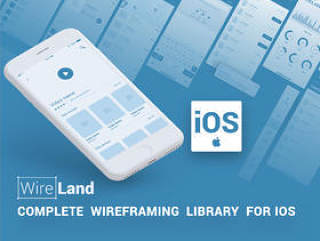 Wireframe Library Collection经过优化,可设计和构建iOS应用程序项目,适用于iOS的Wireland
