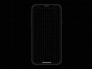 iPhone X 原型线框模板