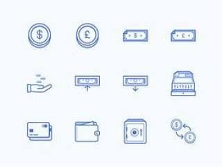 12 枚金融图标