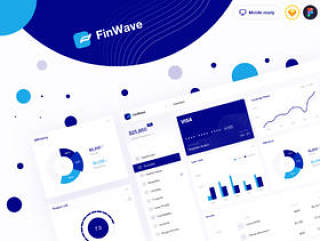 财务仪表板UI工具包,FinWave UI工具包1.0