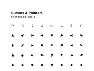 鼠标指针,雪佛龙和其他箭头!,游标和指针固体