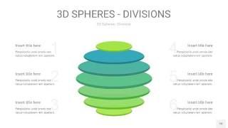 浅绿色3D球体切割PPT信息图10