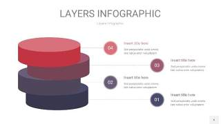 莫兰迪紫色3D分层PPT信息图6