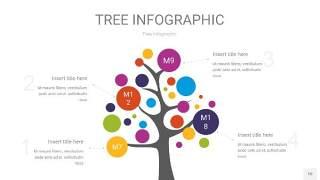 彩色树状图PPT图表10