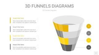 黄灰色3D漏斗PPT信息图表7