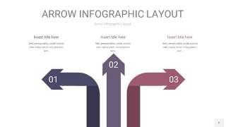 中紫色箭头PPT信息图表2
