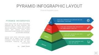红绿色3D金字塔PPT信息图表22