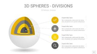 灰黄色3D球体切割PPT信息图6