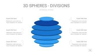 渐变蓝色3D球体切割PPT信息图10