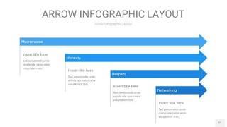 蓝色箭头PPT信息图表12