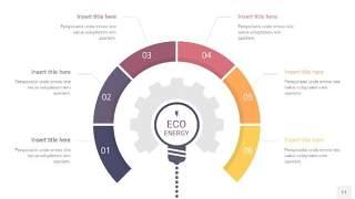 紫黄色齿轮PPT信息图11