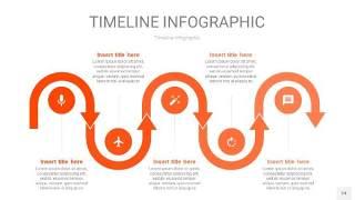 橘红色时间轴PPT信息图24
