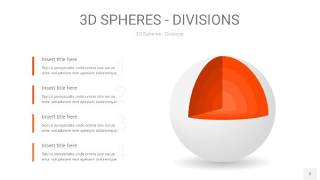 橘红色3D球体切割PPT信息图2