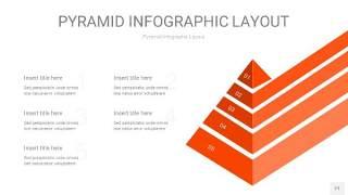 橘红色3D金字塔PPT信息图表21
