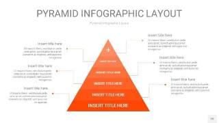 橘红色3D金字塔PPT信息图表20
