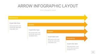 黄色箭头PPT信息图表12