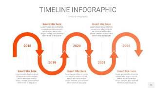 橘红色时间轴PPT信息图25
