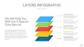 四色3D分层PPT信息图26
