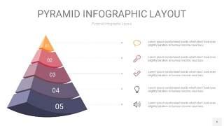 中紫色3D金字塔PPT信息图表6