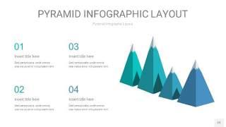 天蓝绿3D金字塔PPT信息图表23