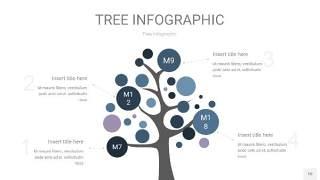 深蓝色树状图PPT图表10