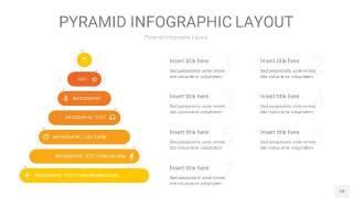 渐变黄色3D金字塔PPT信息图表10