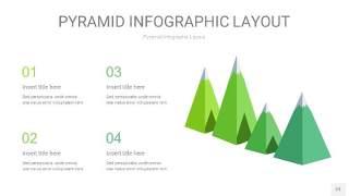 浅绿色3D金字塔PPT信息图表23