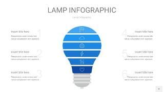 蓝色创意灯PPT信息图4