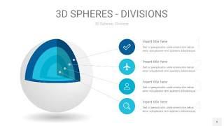 宝石蓝色3D球体切割PPT信息图6