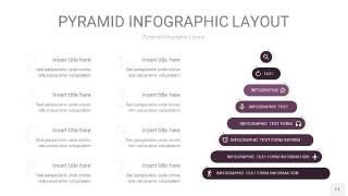 深紫色3D金字塔PPT信息图表11