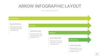 浅绿色箭头PPT信息图表12