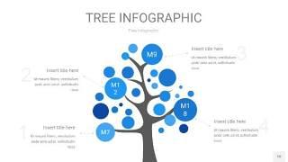 蓝色树状图PPT图表片10