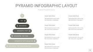 灰色3D金字塔PPT信息图表10