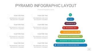 黄蓝绿色3D金字塔PPT信息图表11