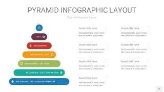 黄蓝绿色3D金字塔PPT信息图表10